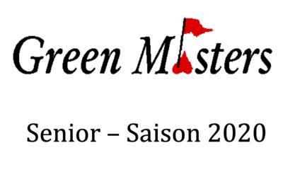Senior: Prix Greenmasters – 08/07/2020